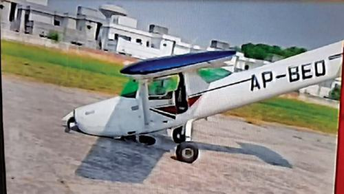 Crash-landing at Walton Airport