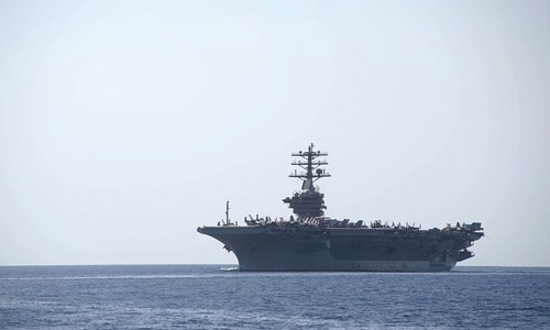 US aircraft carrier enters Gulf amid sanctions threat against Iran