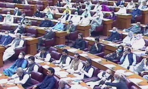 پارلیمنٹ کے  مشترکہ اجلاس سے 53 ممبران اسمبلی غیر حاضر تھے