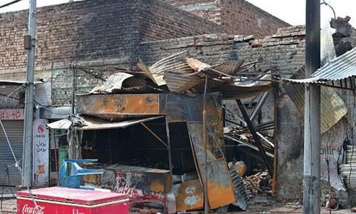 Three shops damaged in gas cylinder blast