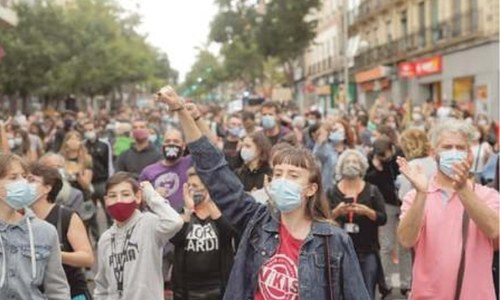 Madrid protesters complain localised lockdowns work against poor