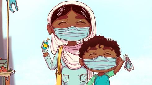 This Urdu comic book teaches kids how to navigate the pandemic while promoting interfaith harmony
