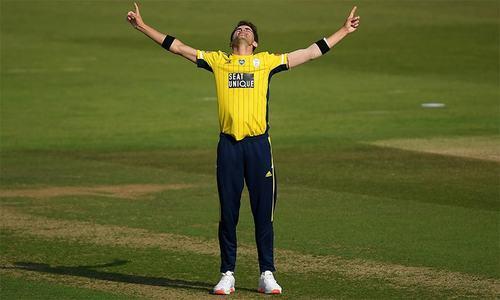 انگلش ٹی20 لیگ میں شاہین کی عمدہ باؤلنگ، 4 گیندوں پر 4 وکٹیں لے لیں