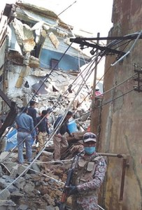 One hurt as portion of garment factory collapses in SITE