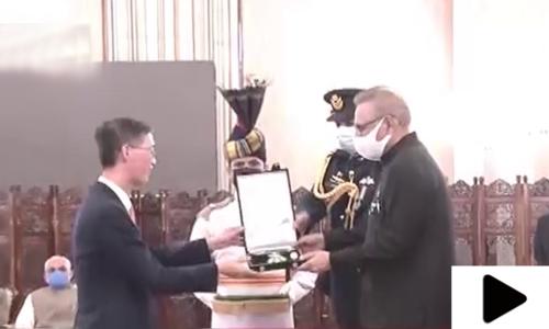 چینی سفیر کے لیے 'ہلال پاکستان' کا اعزاز