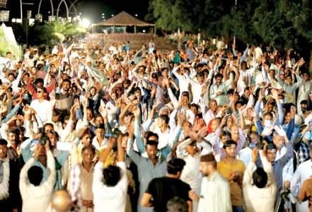 Hindu community members protest in Diplomatic Enclave