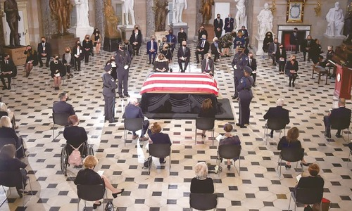 Judge Ginsburg first woman to lie in state at US Capitol