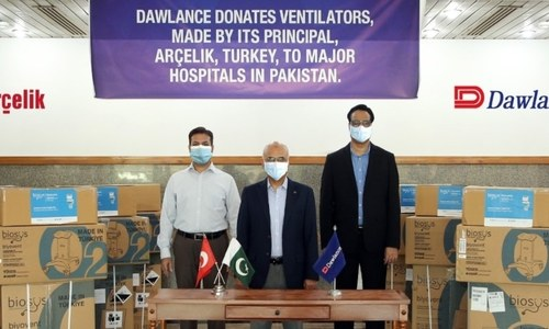 Parent company of Dawlence donates mechanical ventilators to Pakistan