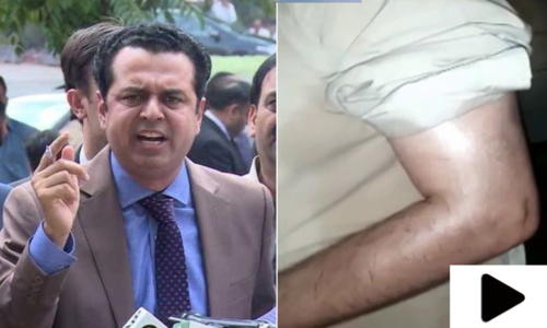 مسلم لیگ(ن) کے رہنما طلال چوہدری مبینہ حملے میں زخمی