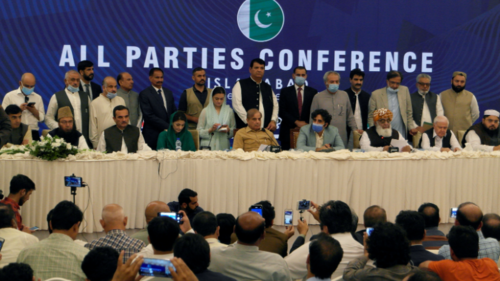 Opposition leaders address presser after first Pakistan Democratice Movement meeting