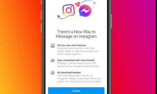 میسنجر اور انسٹاگرام صارفین کے درمیان چیٹ کی سہولت متعارف