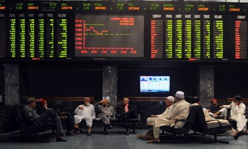 Stocks inch up 105 points in choppy trade
