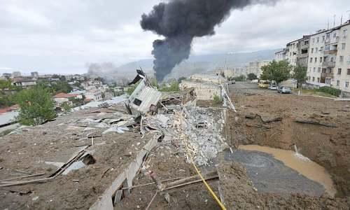 Cities hit as fighting between Armenia, Azerbaijan intensifies