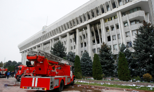 Opposition in Kyrgyzstan claims power after storming government buildings