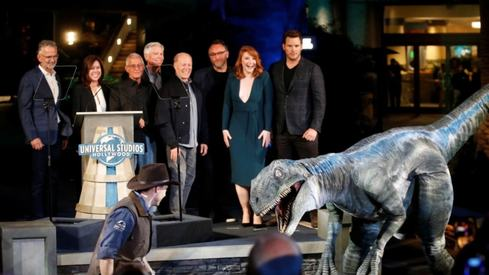 Jurassic World sequel production suspended after positive Covid-19 tests