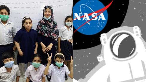 Astronauts reply to questions posed by fourth graders from Karachi