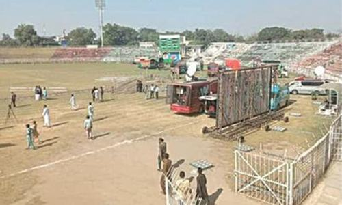 Stage set for PDM power show in Gujranwala