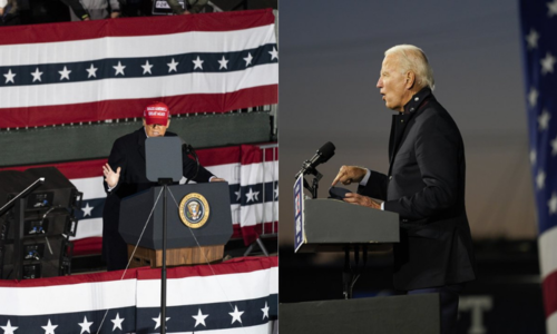 Trump and Biden hit the trail in a charged election week