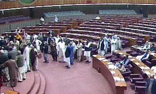 قومی اسمبلی اجلاس میں اپوزیشن کا شدید احتجاج
