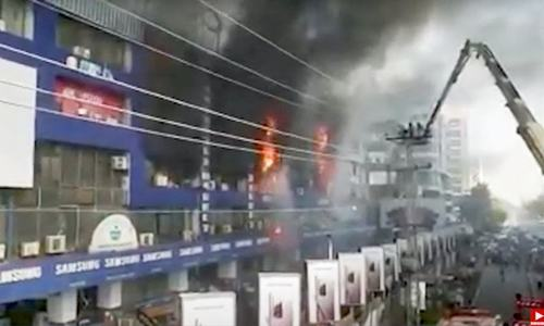'Short circuit primary cause of Hafeez Centre blaze'
