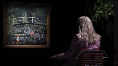 Banksy artwork sells for almost $10 million at auction