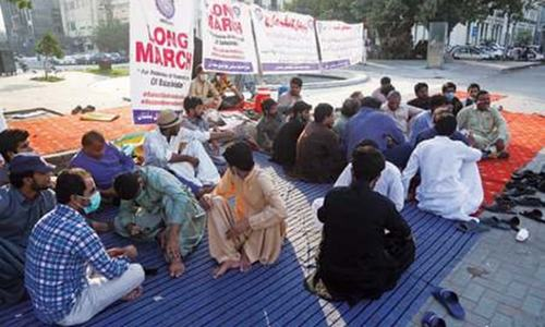 Baloch students encamp outside PA for restoration of scholarships