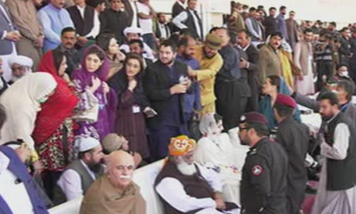 Fazl, Maryam take the stage at PDM's power show in Quetta