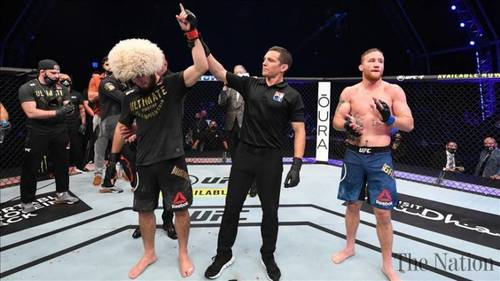 Khabib Nurmagomedov announces retirement at UFC 254