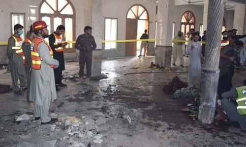 پشاور میں مدرسے میں دھماکا، 7 افراد جاں بحق، 70 زخمی