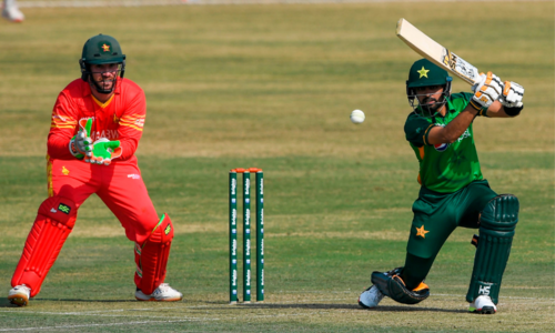 Pakistan lose 2 wickets in 19 overs in 1st ODI against Zimbabwe at Rawalpindi Stadium