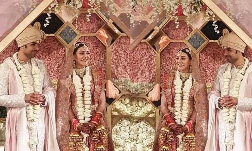 بھارتی اداکارہ کاجل اگروال شادی کے بندھن میں بندھ گئیں