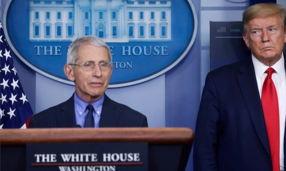 Trump threatens to fire Dr Fauci in rift with disease expert