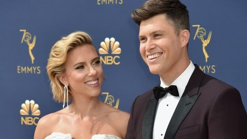 Scarlett Johansson and Colin Jost tie the knot