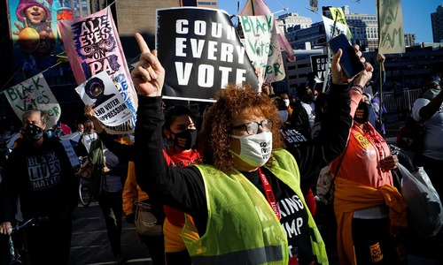 In pictures: Anxiety, suspicion exacerbate US post-election uncertainty