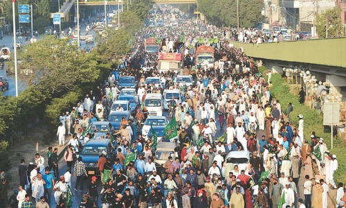 TLP holds rally in protest over blasphemous caricatures