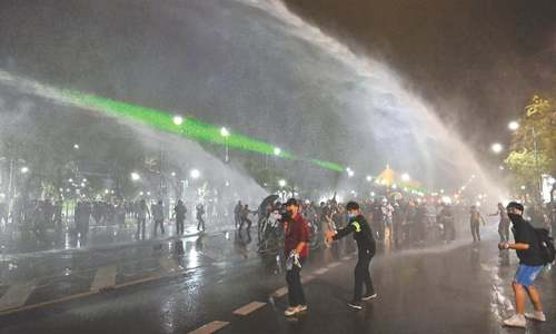 Thai police use water cannon against protesters seeking royal reform