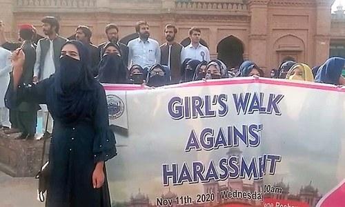 Peshawar varsity female students protest 'harassment' by teachers