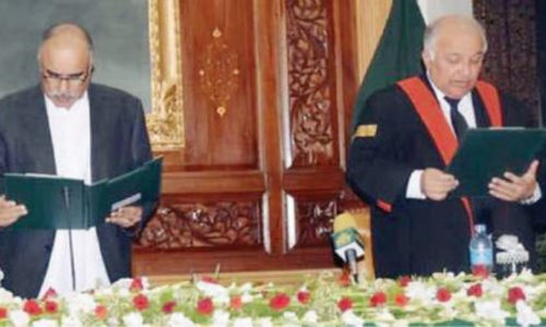 Justice Qaiser takes oath as PHC acting chief justice