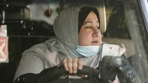 Gaza's first female taxi driver is only taking advance bookings
