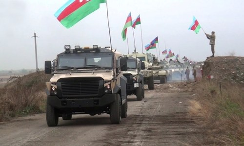 Azerbaijan's troops enter first district handed over by Armenia