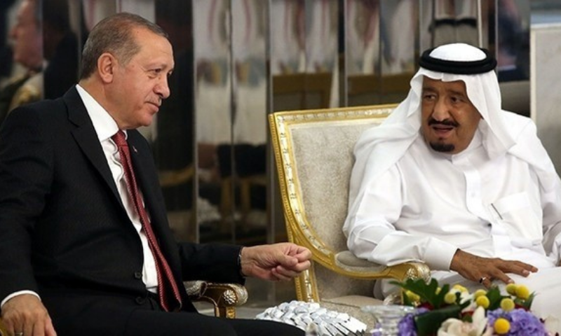 In rare phone call, Erdogan and Saudi king agree to enhance ties