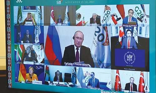 Coronavirus crisis dominates G20 'virtual' summit