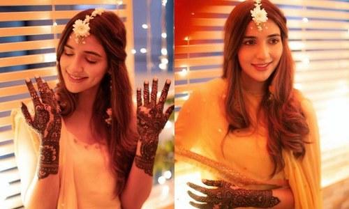 اداکارہ رباب ہاشمی کی شادی کی تقریبات کا آغاز