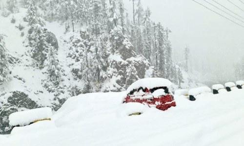 Upper parts of Swat, Bajaur receive snowfall