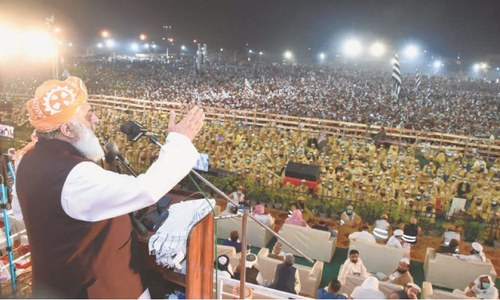 Fazl tells establishment to do its own job, let people run their country