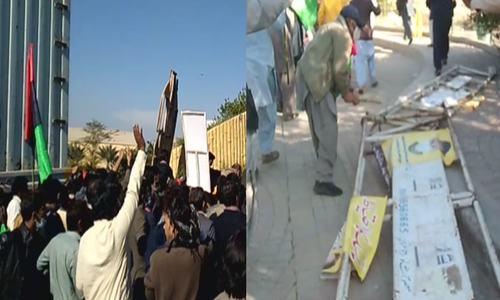 ملتان جلسہ: پی ڈی ایم کارکنان 2 روز قبل ہی انتظامی رکاوٹیں توڑکر جلسہ گاہ میں داخل