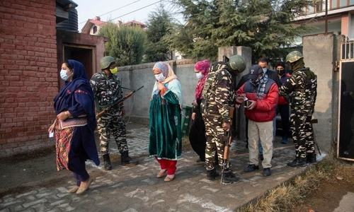 مقبوضہ کشمیر: خصوصی حیثیت ختم ہونے کے بعد سخت سیکیورٹی میں پہلے انتخابات