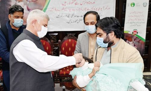 CM launches five-day polio drive in KP