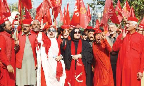 Protesters want FIR withdrawn against organisers of PDM rally