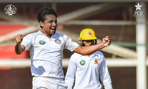 Waqas stars as 20 wickets tumble in NSK clash
